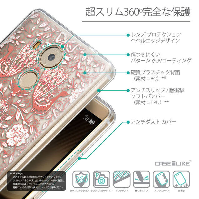 Details in Japanese - CASEiLIKE Huawei Mate 8 back cover Roses Ornamental Skulls Peacocks 2237