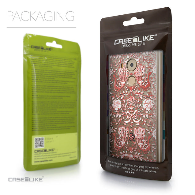 Packaging - CASEiLIKE Huawei Mate 8 back cover Roses Ornamental Skulls Peacocks 2237