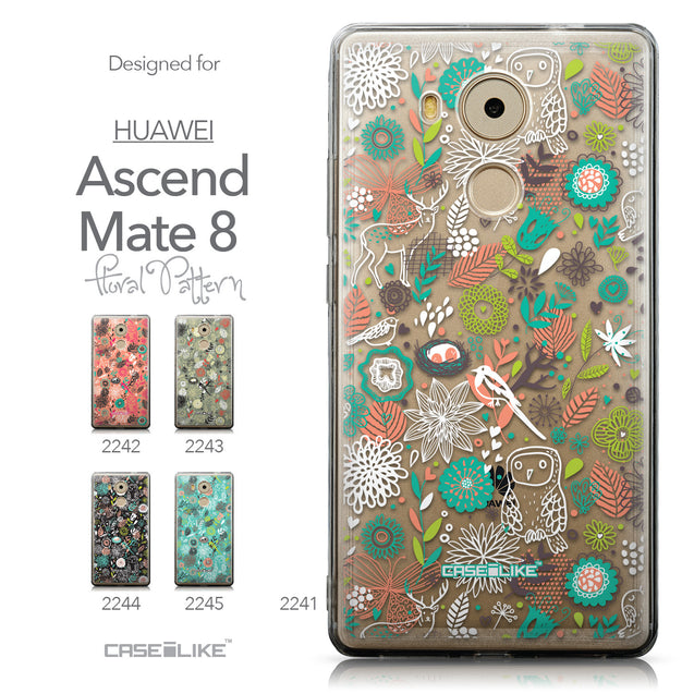 Collection - CASEiLIKE Huawei Mate 8 back cover Spring Forest White 2241