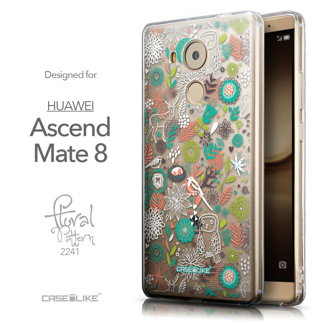 Front & Side View - CASEiLIKE Huawei Mate 8 back cover Spring Forest White 2241