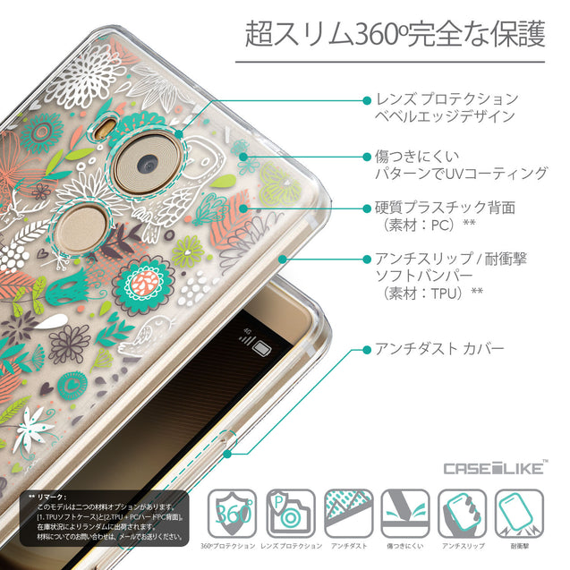 Details in Japanese - CASEiLIKE Huawei Mate 8 back cover Spring Forest White 2241
