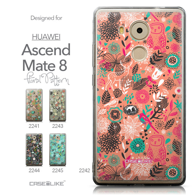 Collection - CASEiLIKE Huawei Mate 8 back cover Spring Forest Pink 2242