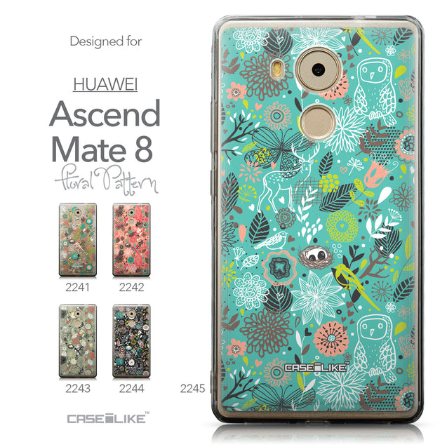 Collection - CASEiLIKE Huawei Mate 8 back cover Spring Forest Turquoise 2245