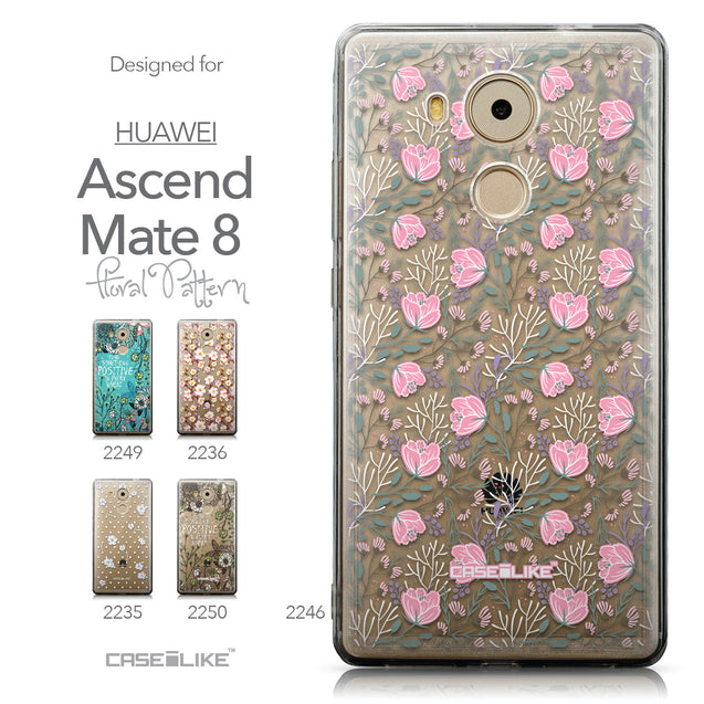 Collection - CASEiLIKE Huawei Mate 8 back cover Flowers Herbs 2246