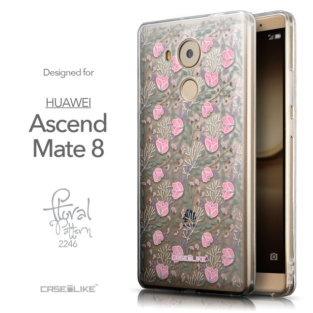 Front & Side View - CASEiLIKE Huawei Mate 8 back cover Flowers Herbs 2246