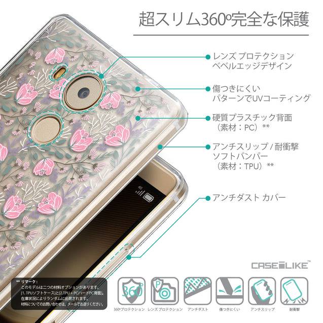 Details in Japanese - CASEiLIKE Huawei Mate 8 back cover Flowers Herbs 2246