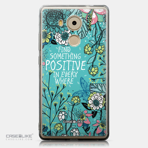 CASEiLIKE Huawei Mate 8 back cover Blooming Flowers Turquoise 2249