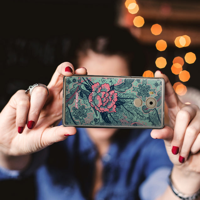 Share - CASEiLIKE Huawei Mate 8 back cover Vintage Roses and Feathers Turquoise 2253