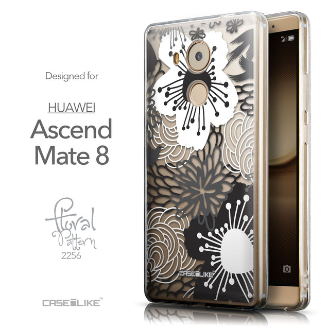 Front & Side View - CASEiLIKE Huawei Mate 8 back cover Japanese Floral 2256