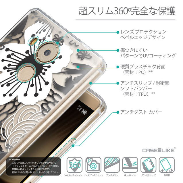 Details in Japanese - CASEiLIKE Huawei Mate 8 back cover Japanese Floral 2256