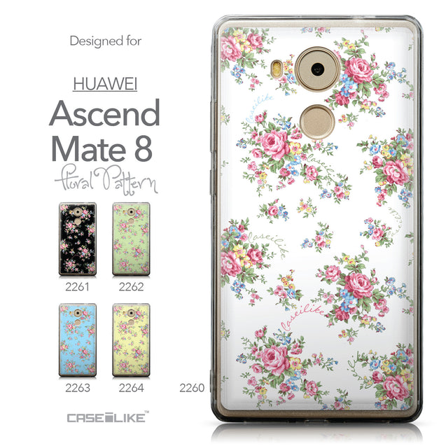 Collection - CASEiLIKE Huawei Mate 8 back cover Floral Rose Classic 2260