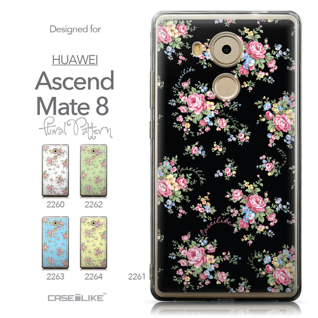 Collection - CASEiLIKE Huawei Mate 8 back cover Floral Rose Classic 2261
