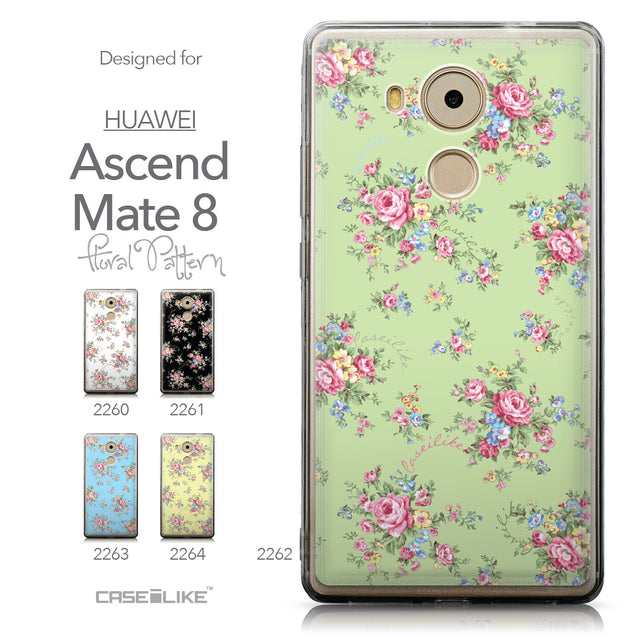 Collection - CASEiLIKE Huawei Mate 8 back cover Floral Rose Classic 2262