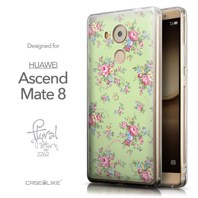 Front & Side View - CASEiLIKE Huawei Mate 8 back cover Floral Rose Classic 2262