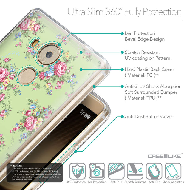 Details in English - CASEiLIKE Huawei Mate 8 back cover Floral Rose Classic 2262