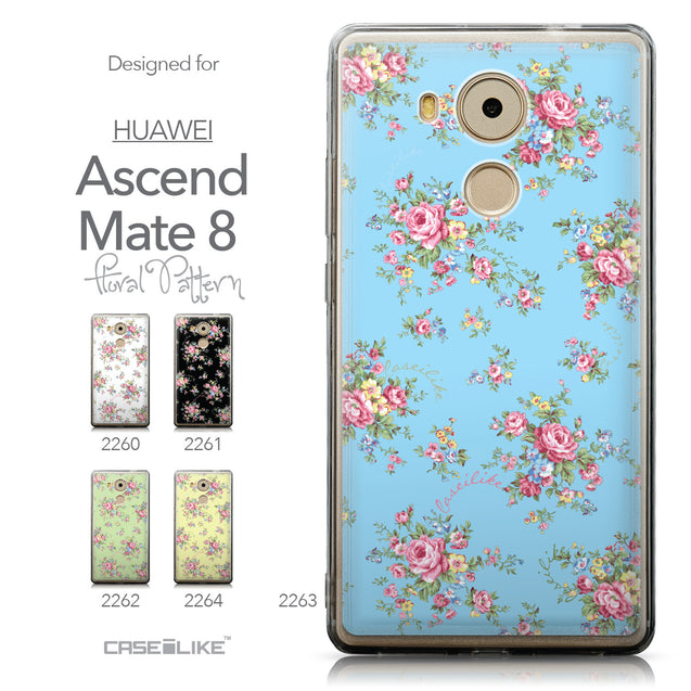 Collection - CASEiLIKE Huawei Mate 8 back cover Floral Rose Classic 2263