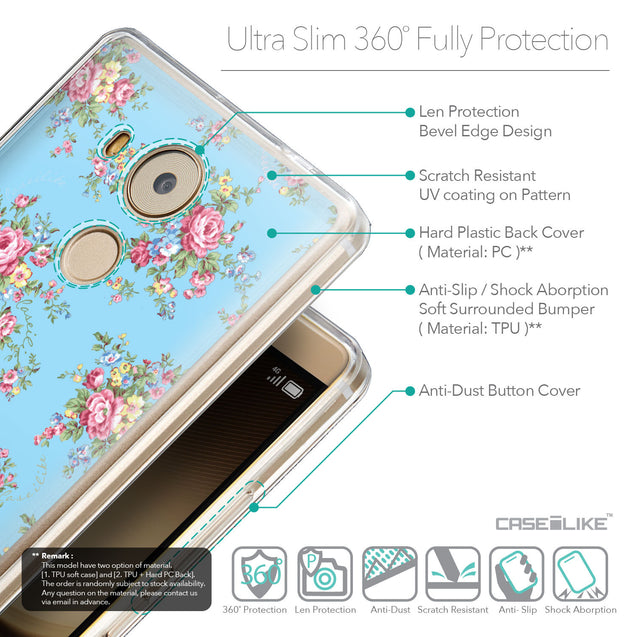 Details in English - CASEiLIKE Huawei Mate 8 back cover Floral Rose Classic 2263