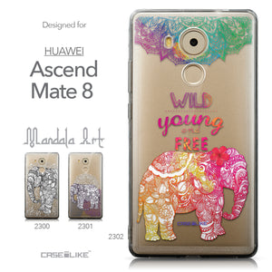 Collection - CASEiLIKE Huawei Mate 8 back cover Mandala Art 2302