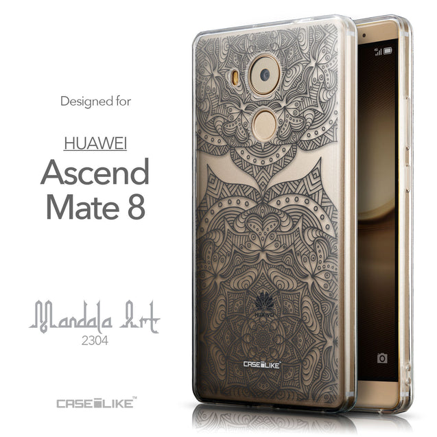 Front & Side View - CASEiLIKE Huawei Mate 8 back cover Mandala Art 2304
