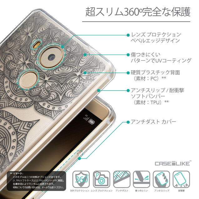 Details in Japanese - CASEiLIKE Huawei Mate 8 back cover Mandala Art 2304