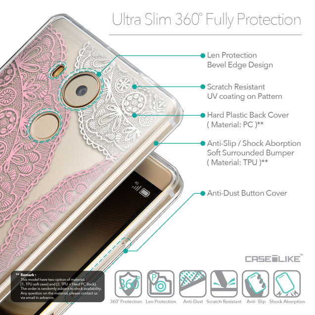 Details in English - CASEiLIKE Huawei Mate 8 back cover Mandala Art 2305