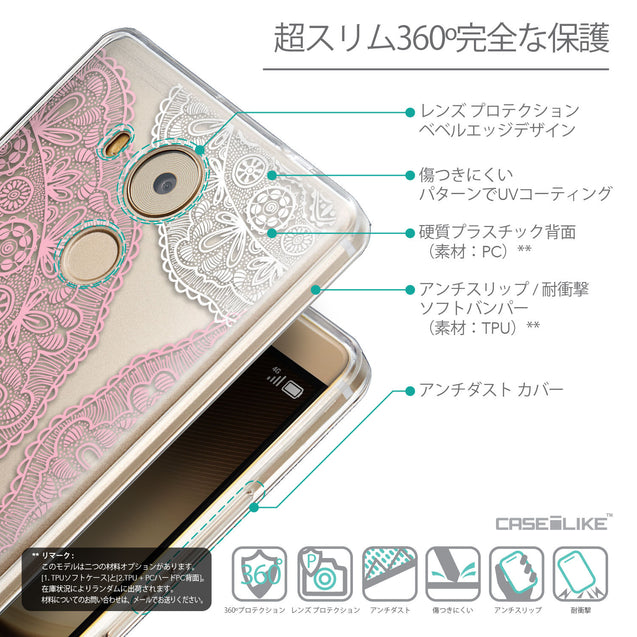 Details in Japanese - CASEiLIKE Huawei Mate 8 back cover Mandala Art 2305