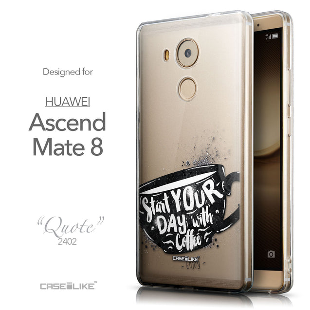 Front & Side View - CASEiLIKE Huawei Mate 8 back cover Quote 2402