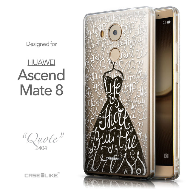 Front & Side View - CASEiLIKE Huawei Mate 8 back cover Indian Tribal Theme Pattern 2053