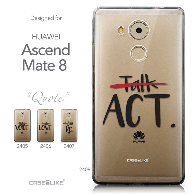 Collection - CASEiLIKE Huawei Mate 8 back cover Quote 2408