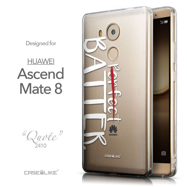 Front & Side View - CASEiLIKE Huawei Mate 8 back cover Quote 2410