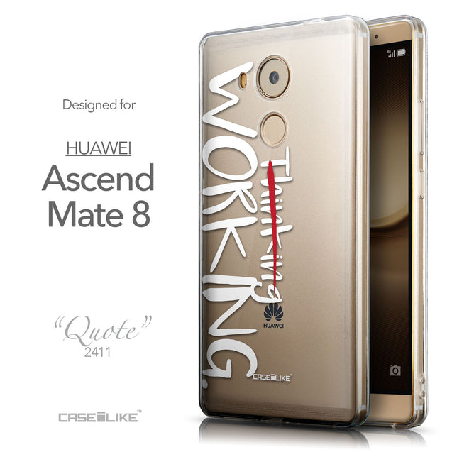 Front & Side View - CASEiLIKE Huawei Mate 8 back cover Quote 2411