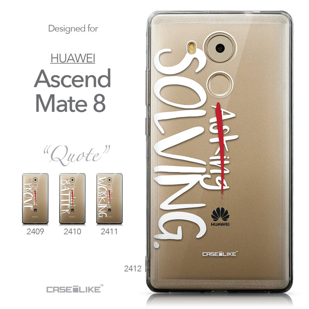Collection - CASEiLIKE Huawei Mate 8 back cover Quote 2412