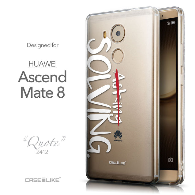 Front & Side View - CASEiLIKE Huawei Mate 8 back cover Quote 2412