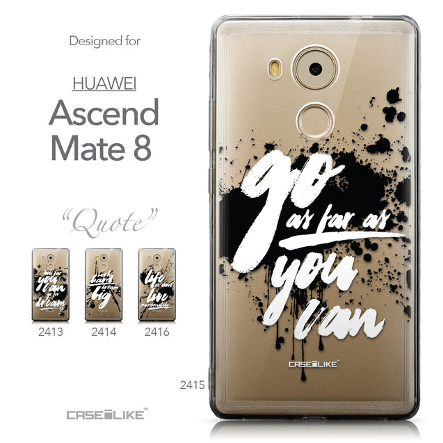 Collection - CASEiLIKE Huawei Mate 8 back cover Quote 2415