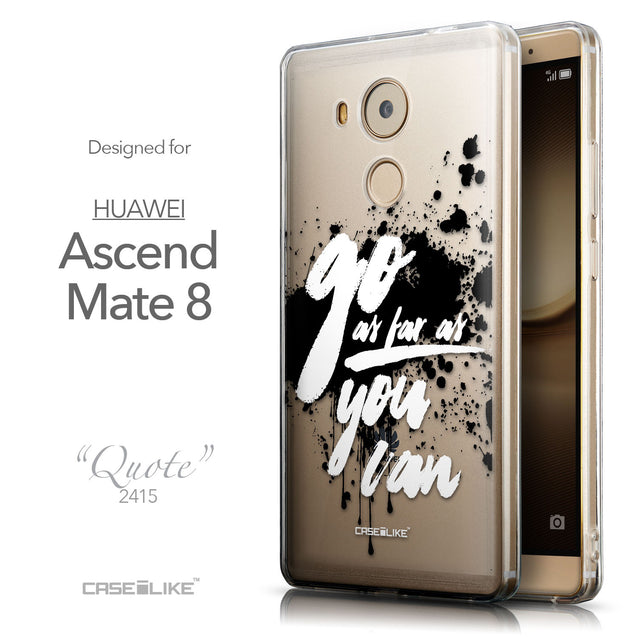 Front & Side View - CASEiLIKE Huawei Mate 8 back cover Quote 2415