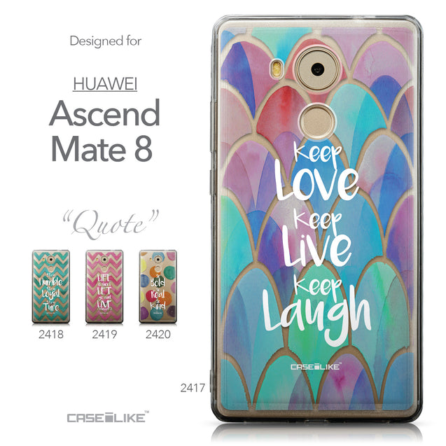 Collection - CASEiLIKE Huawei Mate 8 back cover Quote 2417