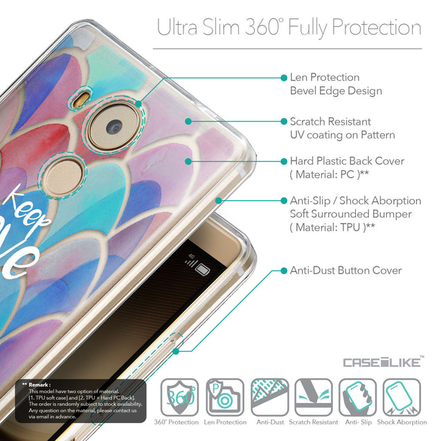Details in English - CASEiLIKE Huawei Mate 8 back cover Quote 2417