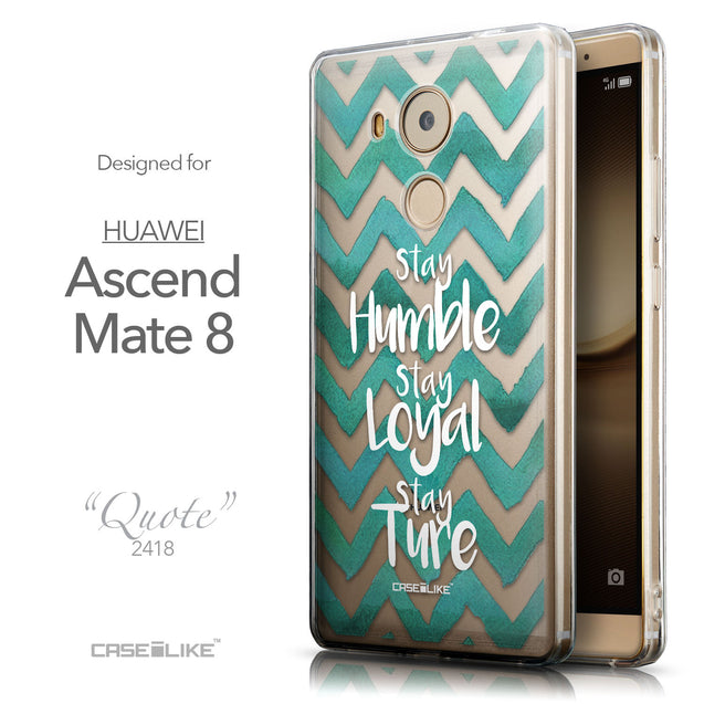 Front & Side View - CASEiLIKE Huawei Mate 8 back cover Quote 2418