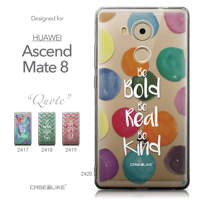 Collection - CASEiLIKE Huawei Mate 8 back cover Quote 2420