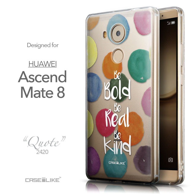 Front & Side View - CASEiLIKE Huawei Mate 8 back cover Quote 2420