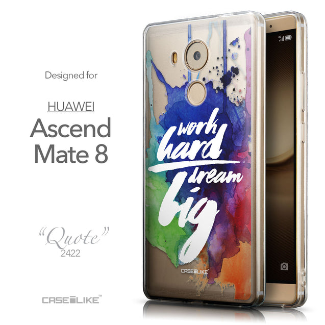 Front & Side View - CASEiLIKE Huawei Mate 8 back cover Quote 2422