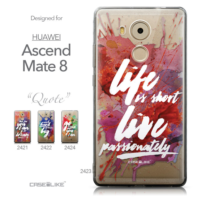 Collection - CASEiLIKE Huawei Mate 8 back cover Quote 2423
