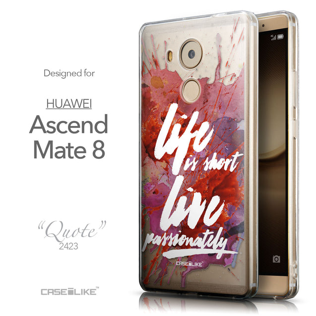 Front & Side View - CASEiLIKE Huawei Mate 8 back cover Quote 2423