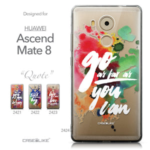 Collection - CASEiLIKE Huawei Mate 8 back cover Quote 2424