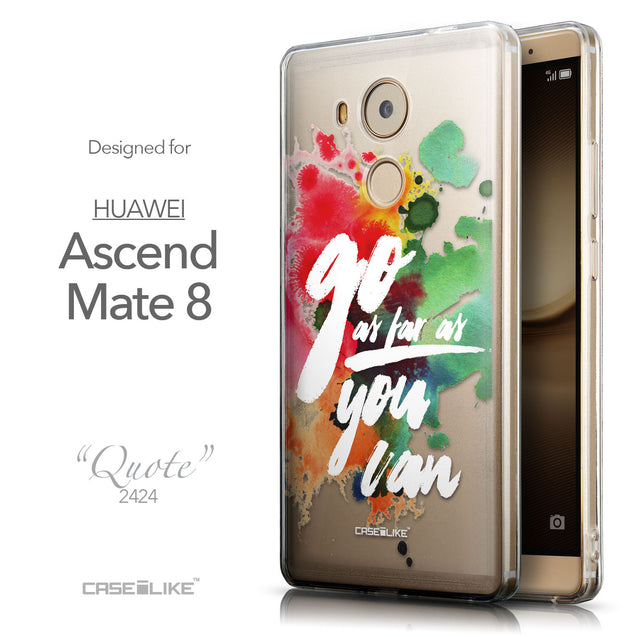 Front & Side View - CASEiLIKE Huawei Mate 8 back cover Quote 2424