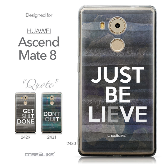 Collection - CASEiLIKE Huawei Mate 8 back cover Quote 2430