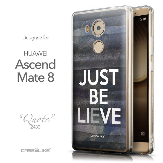 Front & Side View - CASEiLIKE Huawei Mate 8 back cover Quote 2430