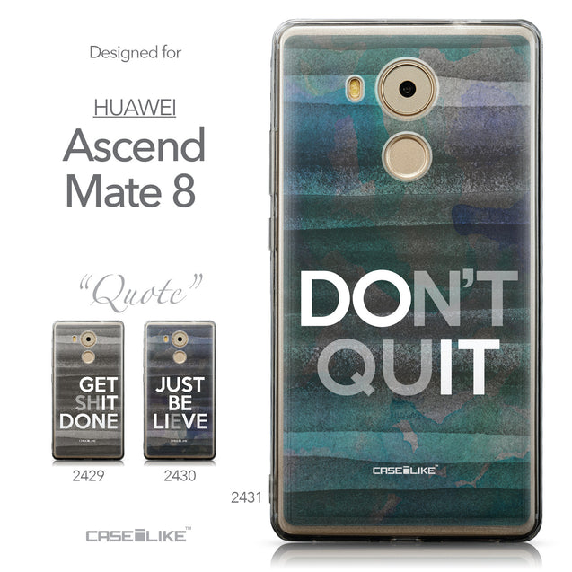 Collection - CASEiLIKE Huawei Mate 8 back cover Quote 2431