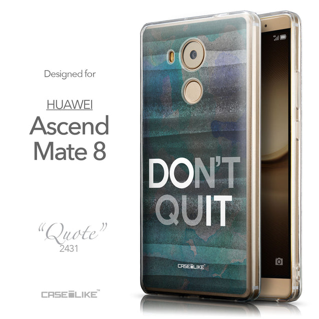 Front & Side View - CASEiLIKE Huawei Mate 8 back cover Quote 2431