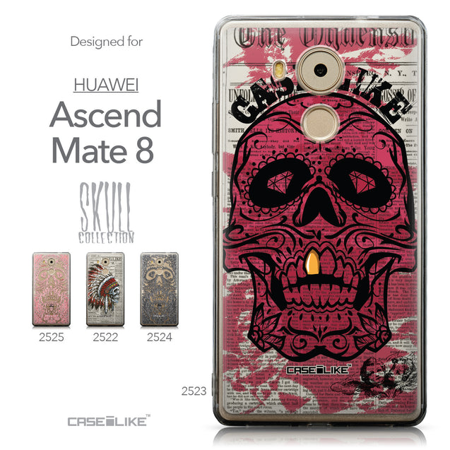 Collection - CASEiLIKE Huawei Mate 8 back cover Art of Skull 2523